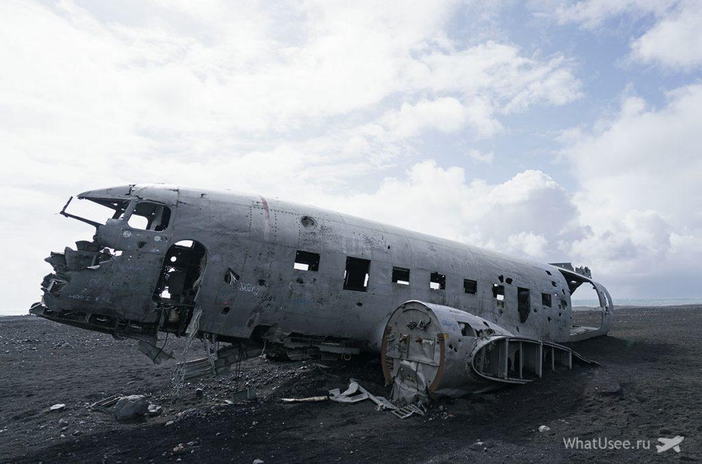 Обломки самолета Solheimasandur Plane Wreck Исландия