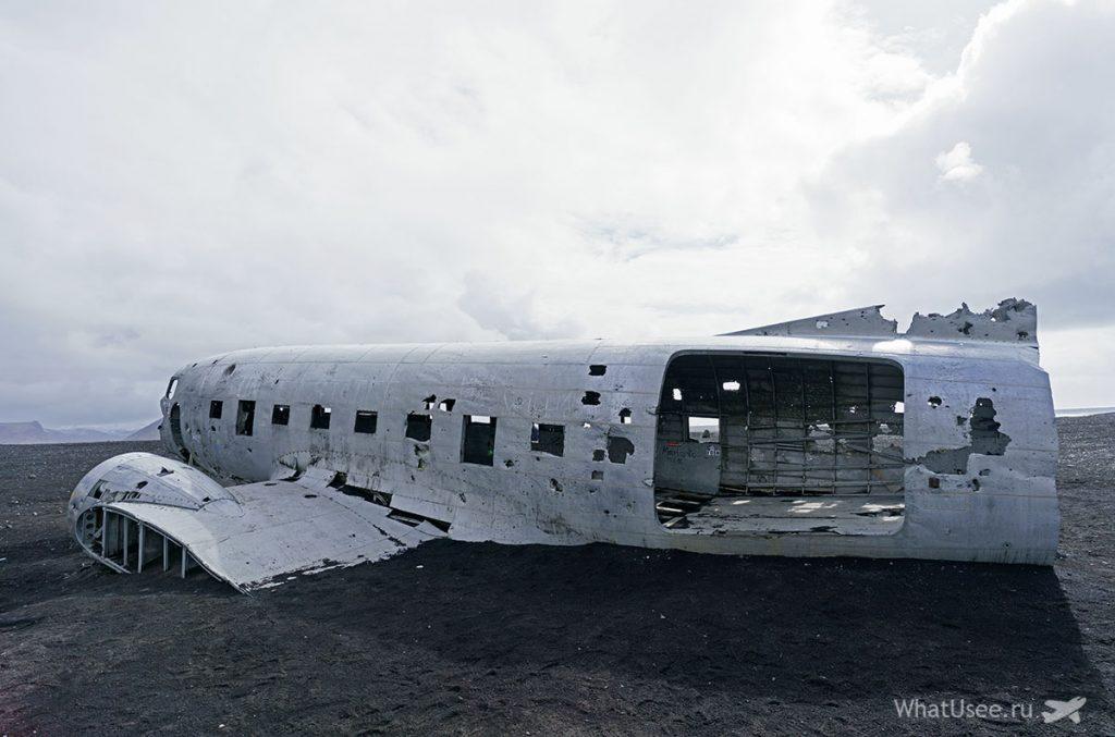 Обломки самолета в Исландии