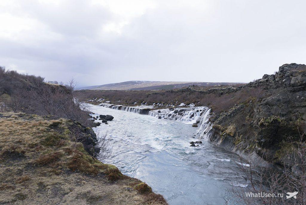 Водопад Хрёйнфоссар Исландия