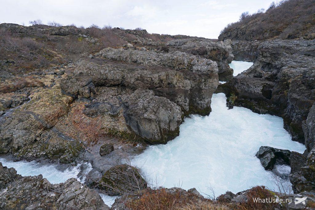Водопад Барнафосс Исландия