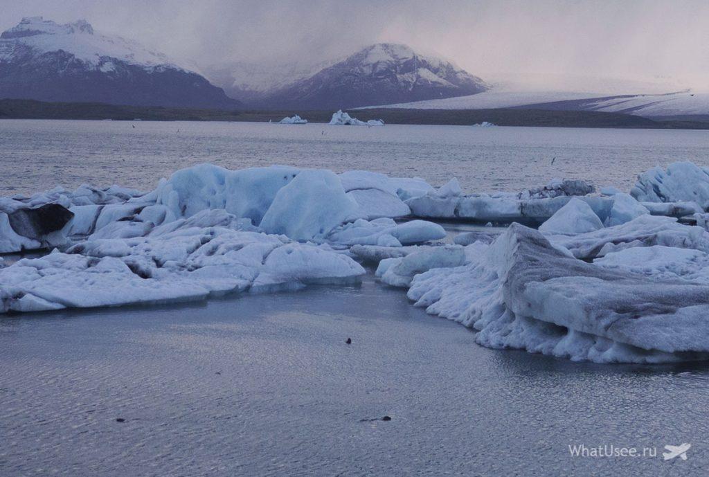 Ледниковая Лагуна Jokulsarlon Glacier Lagoon в Исландии