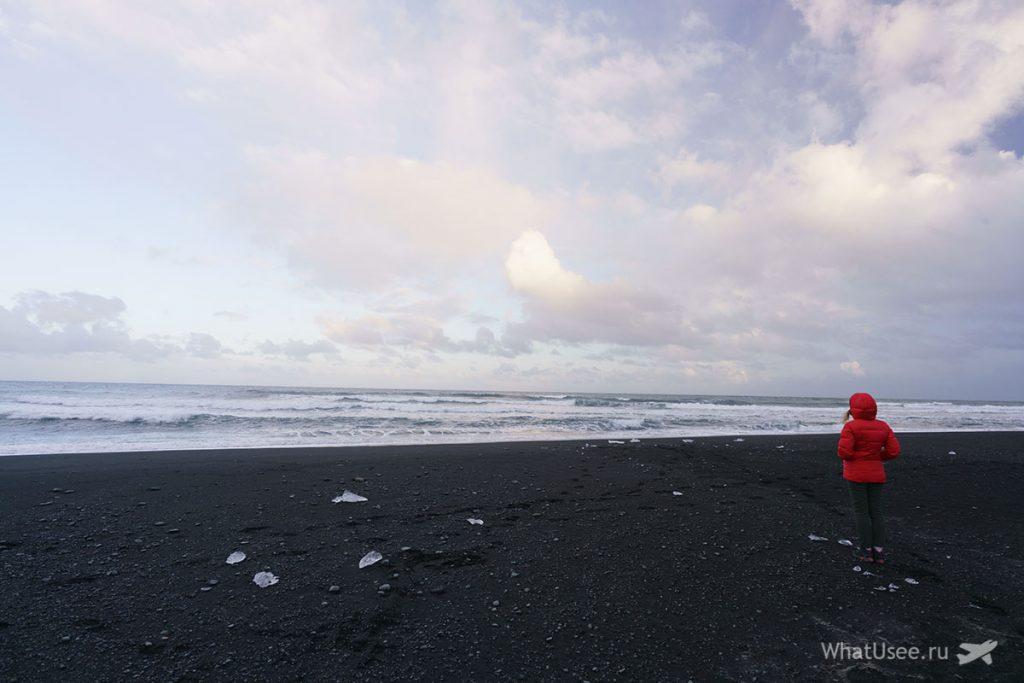 Чёрный пляж Diamond Beach Исландия