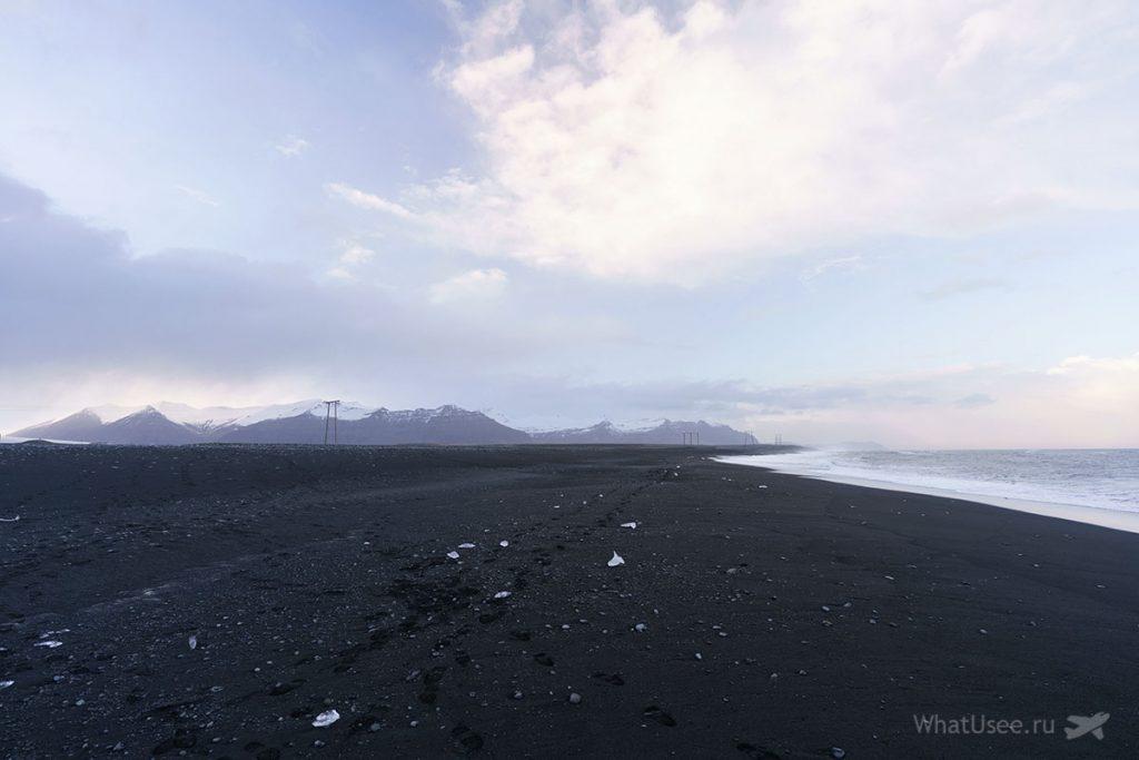 Чёрный пляж Diamond Beach в Исландии