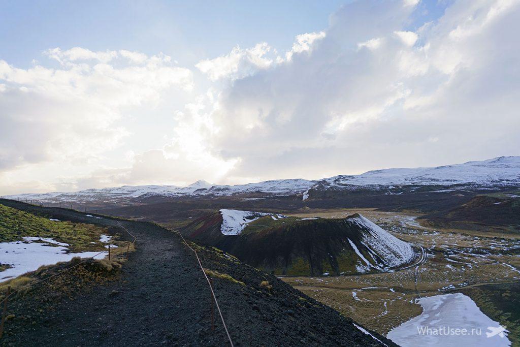 Дорога на полуостров Снайфедльснес Исландия