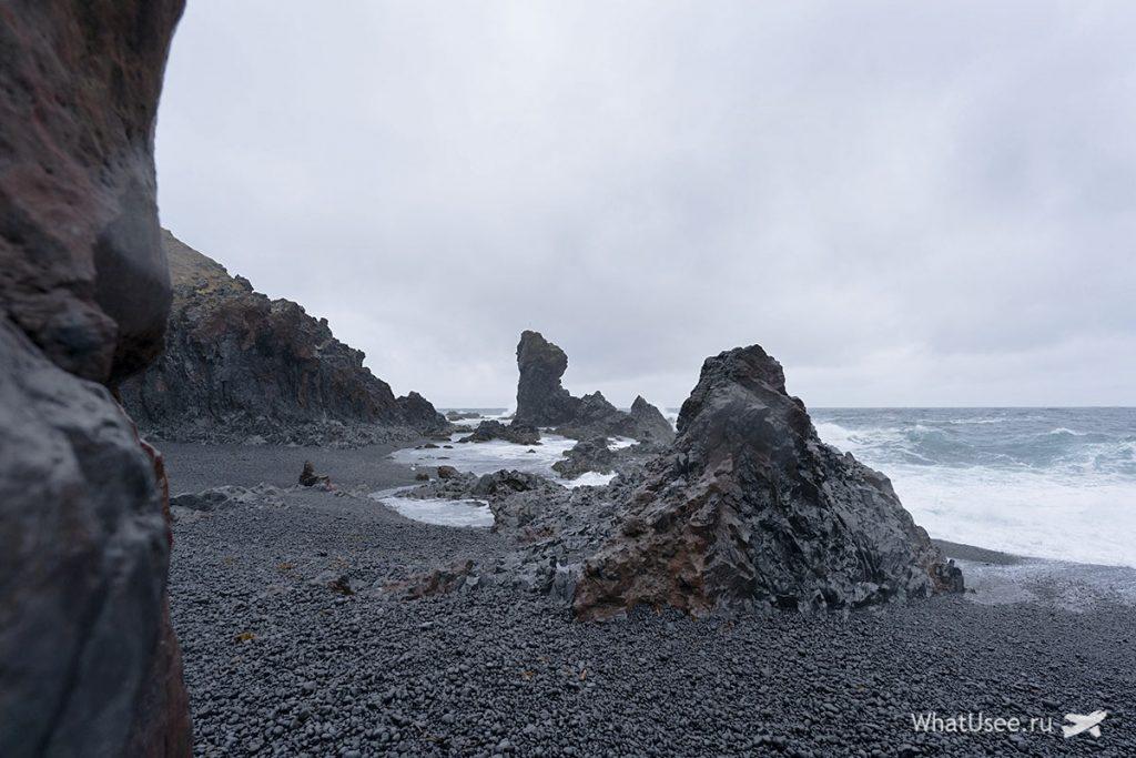 Скалы Полуостров Снайфедльснес