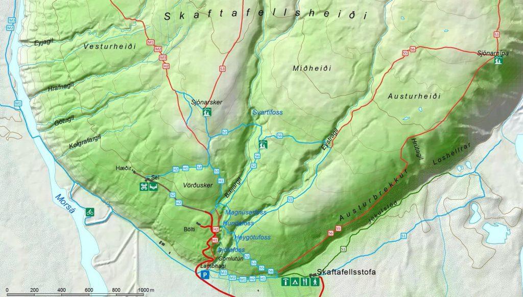 Маршруты по национальному парку Скафтафетль
