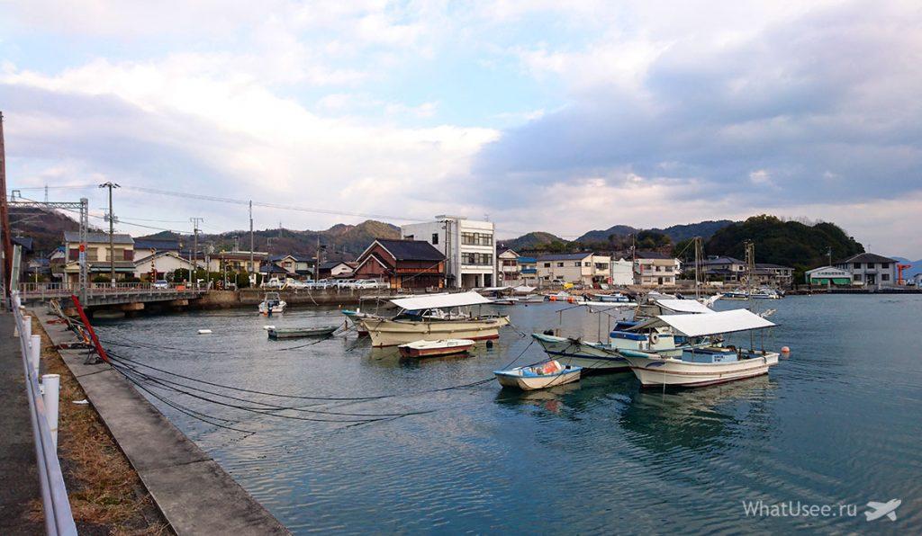 Порт в городе Таданоуми в Японии