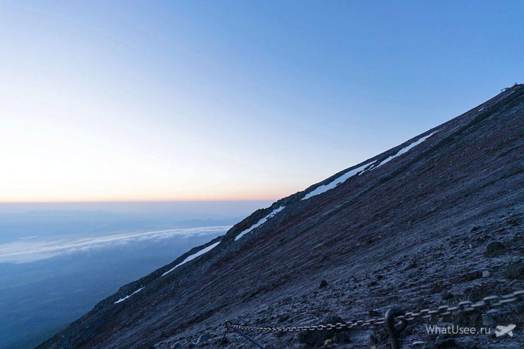 Рассвет на вершине Фудзи
