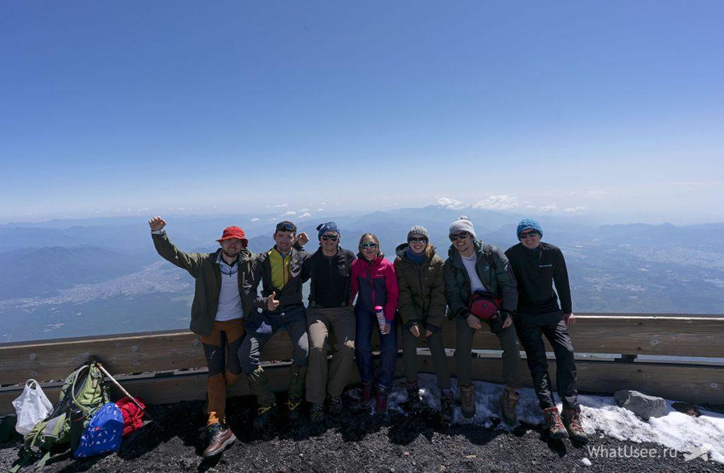 Восхождение на вершину Фудзи Япония