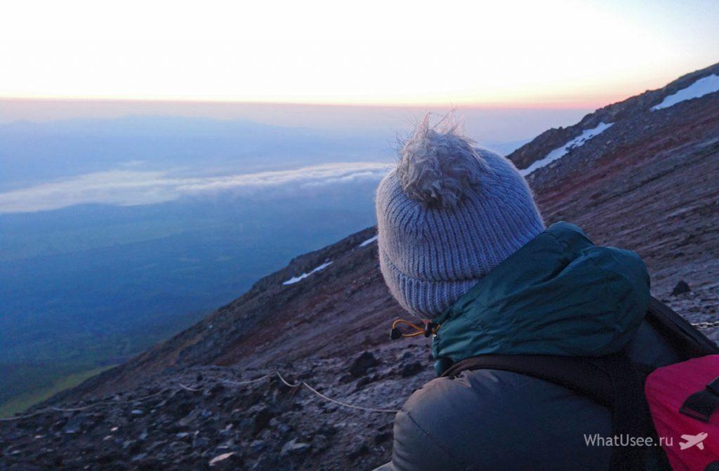 Встреча рассвета на вершине Фудзи
