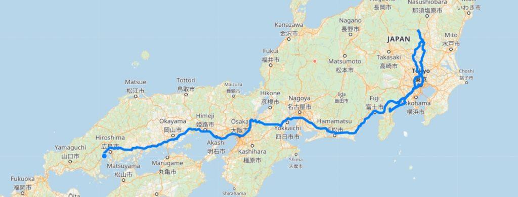 Маршрут по Японии