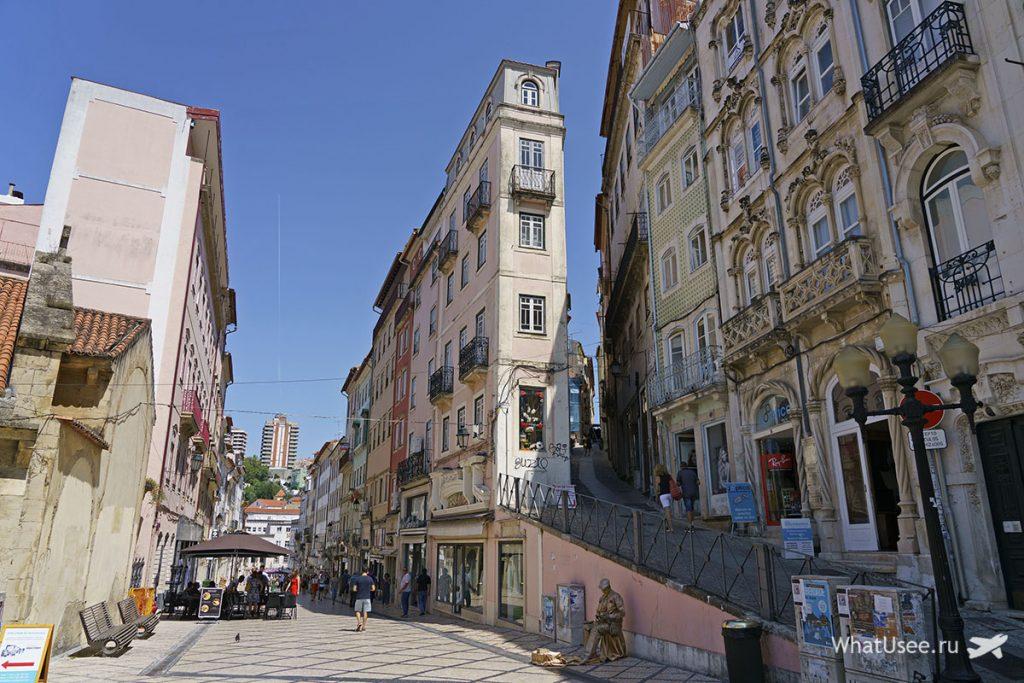Город Коимбра в Португалии